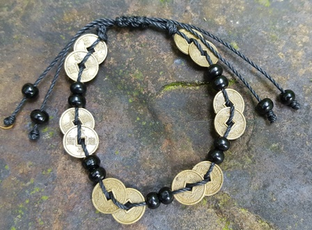 chinese coin bracelet for good luck