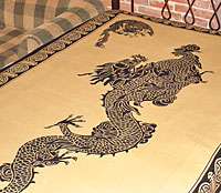 feng shui good luck dragon tapestry