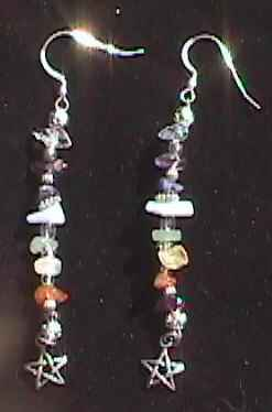 chakra crystal earrings
