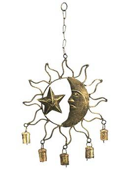 moon and star bell  celestial decor