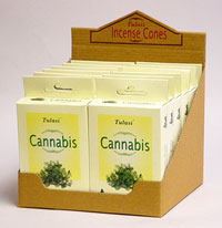 imported Tulasi incense cones - cannabis incense cones