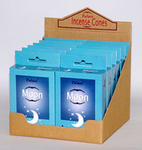 imported Tulasi incense cones - moon incense cones