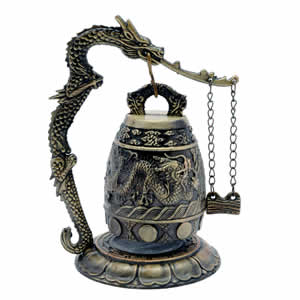 feng shui good luck dragon bell chinese feng shui dragon