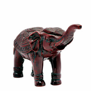 red resin good luck elephant