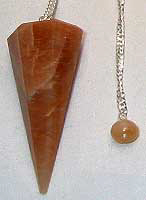 moonstone pendulum with instructions on how to use dowsing pendulum