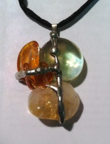 amber and citrine good luck amulet for money