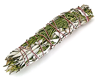 cedar and sage smudge stick