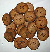 oak  runes with instructions on how to do rune readings