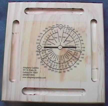 dowsing pendulum board with advanced chart