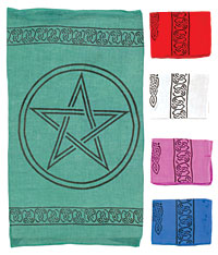 pentagram altar cloth - pentagram tarot cloth