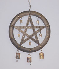 pentagram bell - pagan decor