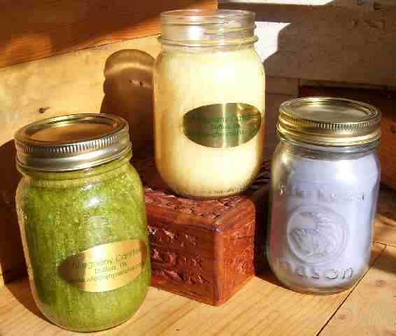 handcrafted scented candles in many fragrances