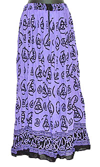 wiccan skirt, pagan skirt, Celtic skirt, triquetra skirt