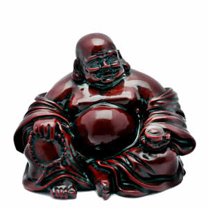 red resin Buddha statue