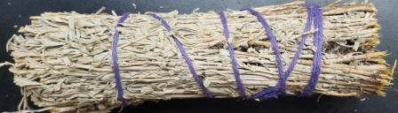 desert sage smudge stick with instuction on how to smudge