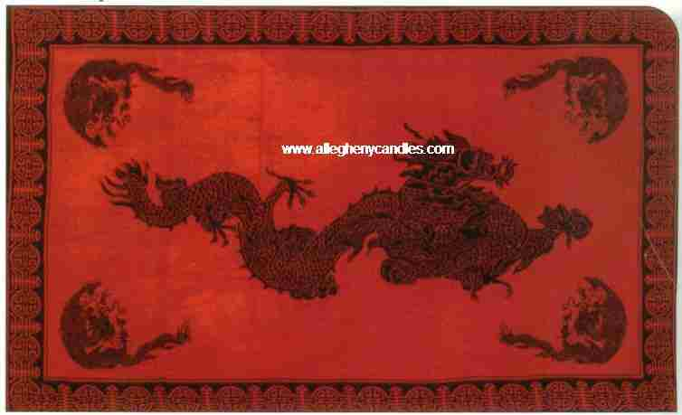 feng shui good luck dragon tapestry - red for good luck