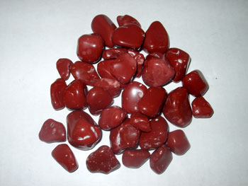 how to use crystals - tumbled red jasper for protection and strength