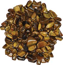 how to use crystals - tumbled tiger eye for protection, truth, good luck